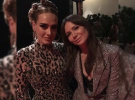 Adele aparece ainda mais magra em festa de pós-Oscar de Beyoncé e Jay-Z