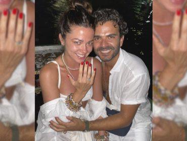 Betina de Luca e Lair Pasetti ficam noivos com as bençãos de Iemanjá