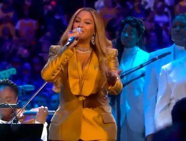 Beyoncé não permitiu ser fotografada durante sua performance no funeral de Kobe Bryant