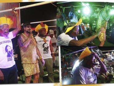 Aos 89 anos, Cacique Raoni participa pela primeira vez do Carnaval de Salvador