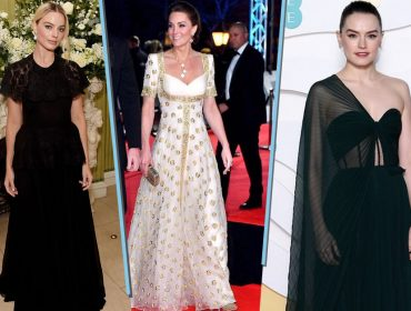 Bafta 2020: Vestidos pretos dominam o tapete vermelho, mas Kate Middleton arrasa no branco