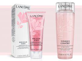 Lancôme lança Rose Sugar Scrub e Tonique Confort, da Pink Collection