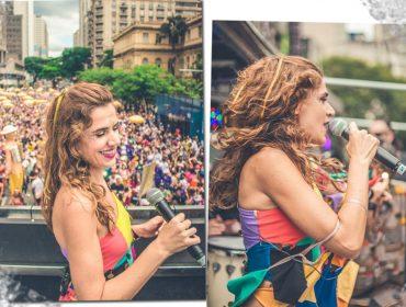 Mariana Aydar comanda o Bloco Forrozin na esquina mais famosa de São Paulo