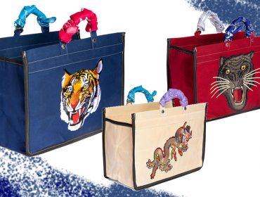 Desejo do dia: as sacolas de lona animais do Studio Bergamin