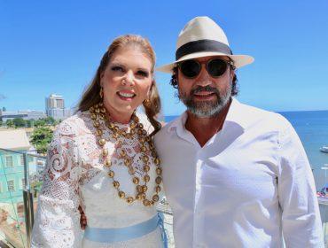 Festa de Iemanjá reúne turma das boas no Antiquário de Itamar e Vanessa Musse em Salvador