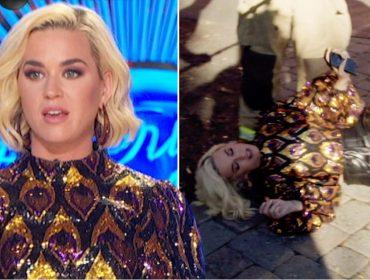 """Vazamento de gás nos sets do """"American Idol"""" resulta em evacuação e desmaio de Katy Perry"""