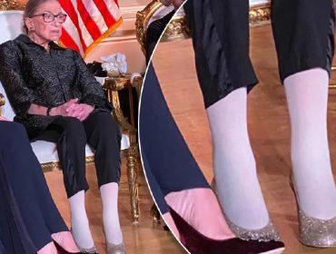 Juíza da Suprema Corte dos EUA rouba a cena em premiação com saltos altíssimos e cheios de brilho