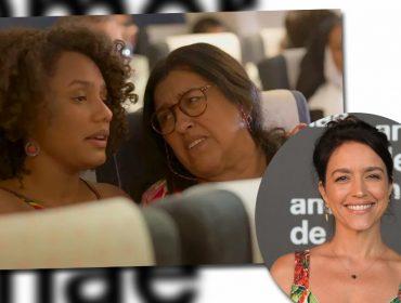 """Manuela Dias, autora de 'Amor de Mãe', fala sobre cena de Lurdes no avião: """"Talvez a mais autobiográfica até agora"""""""