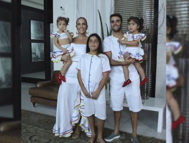 Ivete Sangalo celebra dois anos das gêmeas Marina e Helena com baile de Carnaval
