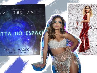 """O céu é o limite para Anitta e ela promete levar seus amigos para o espaço: """"Não vem se convidar! Aguarde aí"""""""