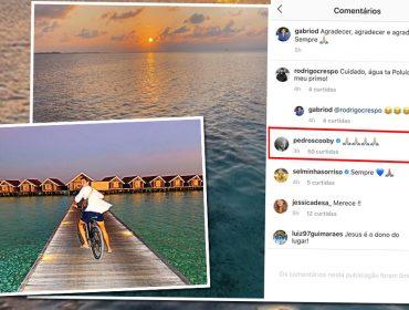 Pedro Scooby comenta post de Gabriel David, novo namorado de Anitta, nas Maldivas