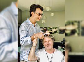 Rodrigo Santoro muda visual no salão de Wanderley Nunes e dá adeus à barba. Saiba detalhes!
