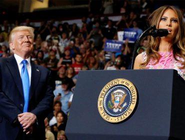 Com a popularidade em baixa, Trump escala Melania para atuar como porta-voz informal