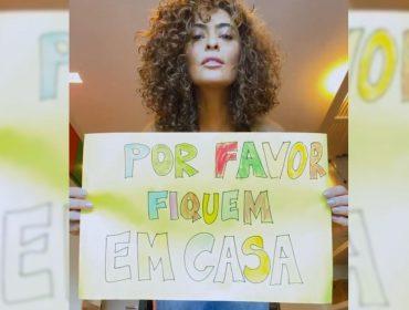Juliana Paes convoca a família para mandar recado sobre Coronavírus e sem querer mostra novo visual
