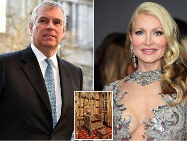 Príncipe Andrew permitiu que modelo americana sentasse no trono da rainha Elizabeth II