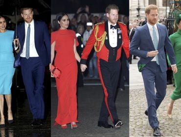 Tchau, realeza! Meghan Markle e Príncipe Harry coordenam looks para mostrar que estão total sintonia