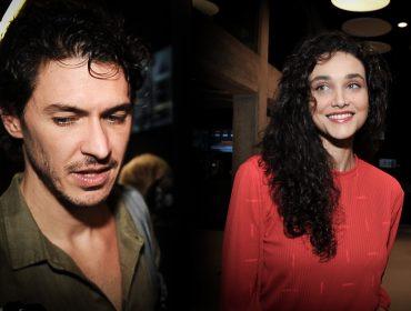 Débora Nascimento e Luiz Perez fogem de fotógrafos em evento em São Paulo. Aos detalhes!