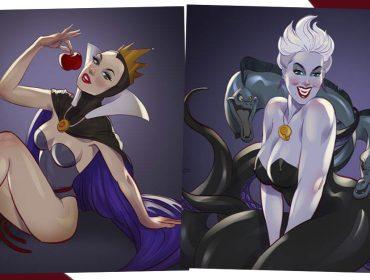 Vilãs da Disney viram pin-ups perversamente sedutoras. Vem ver!