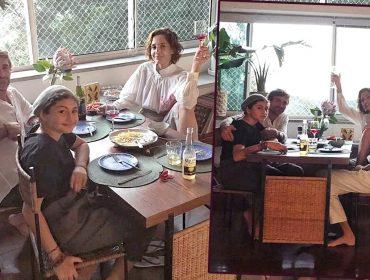 Família moderna: Camila Pitanga passa domingo de Páscoa com a filha, ex-marido e atual namorada