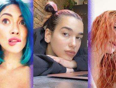 Longe dos flashes, celebs tem dado um toque de emoção à quarentena tingindo seus cabelos sozinhas. O resultado?
