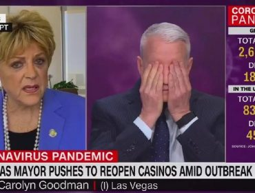 Prefeita de Las Vegas tira Anderson Cooper do sério ao pedir reabertura de cassinos durante entrevista