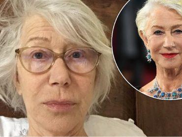 Helen Mirren posta selfie sem maquiagem para ajudar pacientes de Covid-19 que estão na UTI