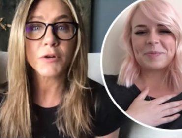 Jennifer Aniston doa R$ 53 mil para enfermeira com Covid-19 momentos depois de conhecê-la na TV