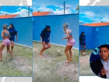 """Ludmilla mostra habilidade no futebol e ganha elogio de Ronaldo Fenômeno: """"Caraca, não sabia desse seu talento"""""""