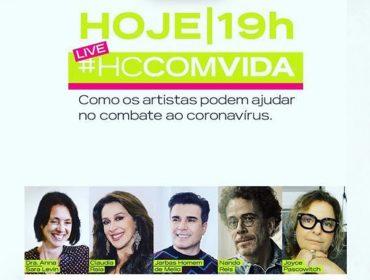Joyce Pascowitch media 'live' armada pelo Hospital das Clínicas com artistas como Claudia Raia e Nando Reis