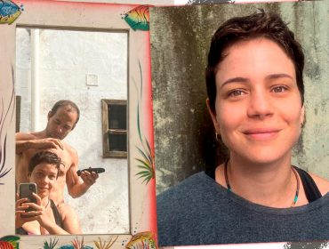 """Leandra Leal radicaliza e muda corte de cabelo durante quarentena com ajuda do namorado: """"A gente arriscou"""""""