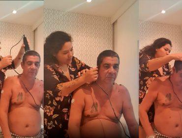 Zeca Pagodinho convoca filha para dar um tapa no visual antes de 'live' que fará no domingo. Vem ver!