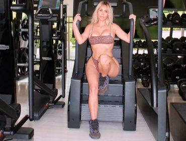 """Kim Kardashian revela treinos pesados para manter o corpo que seus fãs adoram: """"Não estava conseguindo andar hoje"""""""