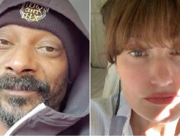 Sem ter muito o que fazer na quarentena, Idina Menzel e Snoop Dogg 'trolam' um ao outro no Insta