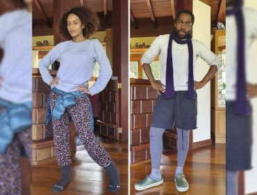 Taís Araujo e Lázaro Ramos retratam fielmente os looks que estamos usando em casa com a chegada do frio