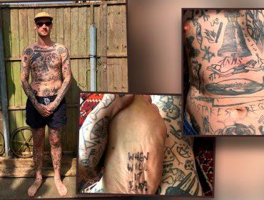 Londrino promete fazer uma tatuagem por dia durante isolamento social e já falta espaço no corpo. Entenda!