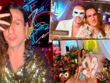 """Em meio à quarentena, Dudu Bertholini se casa em celebração virtual com 200 convidados:  """"Foram cinco horas de cerimônia pelo Zoom"""""""