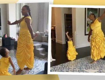 Serena Williams mergulhou no clima dos contos de fada para entreter a filha Olympia nessa quarentena