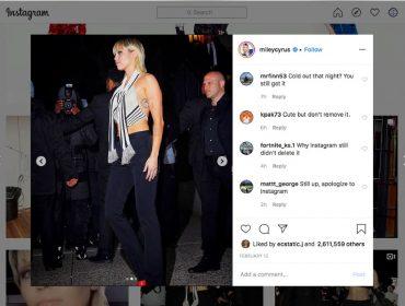 Paparazzo acusa Miley Cyrus de 'roubar' sua foto e processa a cantora em US$ 150 mil