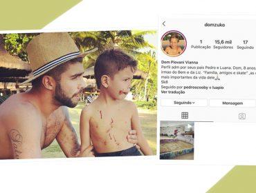 Dom, filho mais velho de Luana Piovani e Pedro Pedro, ganha perfil no Instagram… Papai chegou causando em Portugal