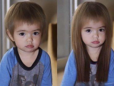 Ninguém escapou do desafio de mudança de aparência que dominou a internet…Sobrou até para a pequena Zoe!