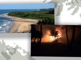 Incêndio destrói restaurante e 600 m² de mata nativa na praia do Rio da Barra, uma das mais incríveis de Trancoso