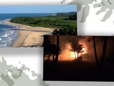 Incêndio destrói restaurante na praia do Rio da Barra, uma das mais incríveis de Trancoso