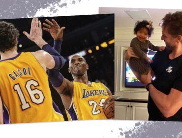 """Pivô espanhol da NBA comemora seu aniversário ao lado da família de Kobe Bryant: """"Tio Pau, nós te amamos"""""""