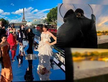 Balmain revisitou seus 75 anos de história com experiência que uniu desfile, dança e música em pleno Rio Sena, em Paris
