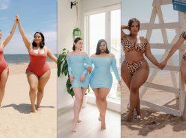 Beleza real! Amigas viralizam na Internet ao postar fotos de biquini evidenciando corpos diferentes