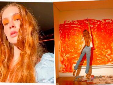 Marina Ruy Barbosa mergulha no laranja para novo projeto que deve ser lançado em agosto. Vem saber!
