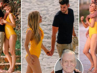 Viúva de Hugh Hefner, que morreu em 2017, é flagrada no México com novo namorado