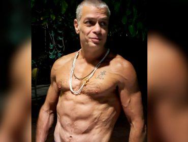 """Personal trainer de Fábio Assunção mostra nova foto do ator e revela: """"Não é bomba, dieta milagrosa, nem mágica"""""""