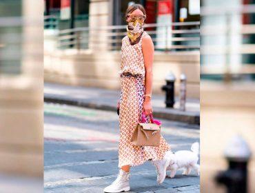 Fashionista em qualquer situação, Olivia Palermo prova que é possível ficar chique e protegida durante a pandemia