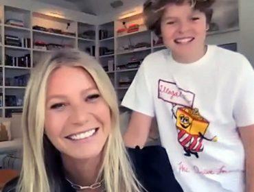 Gwyneth Paltrow dá quebra-cabeça com imagens de seios para o filho de 14 anos se divertir na quarentena